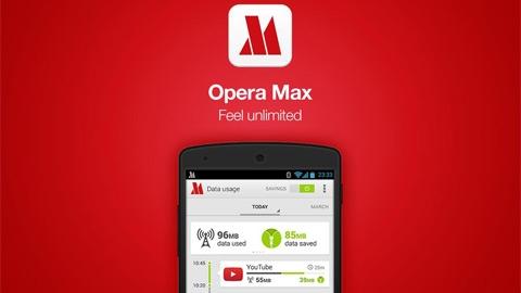 Opera Max Android Mobil Veri Uygulaması