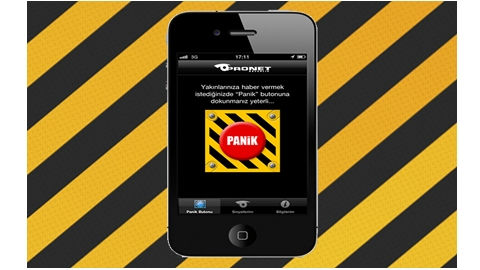 Panik Butonu iOS Uygulaması