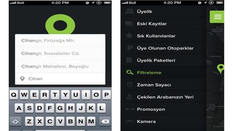 Parkbul iOS Uygulaması