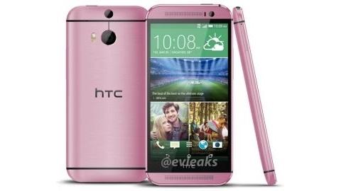 Pembe HTC One M8 internete sızdı