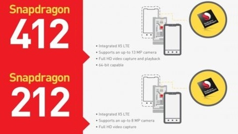 Qualcomm Snapdragon 412 ve Snapdragon 212 resmen duyuruldu