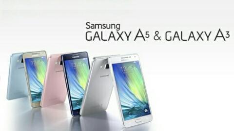 Ultra ince tasarlanmış Samsung Galaxy A3 ve Galaxy A5 resmen duyuruldu