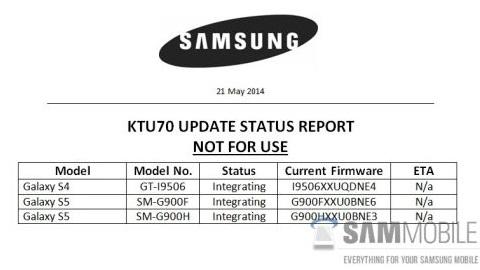 Samsung'un Android 4.4.3 KitKat güncelleme çalışmaları başladı