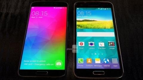 Metal kasalı Galaxy F ve Galaxy S5 yan yana görüntülendi