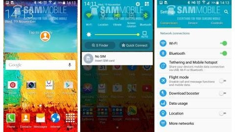 Samsung Galaxy Note 3 i�in Android 5.0 Lollipop s�zd�