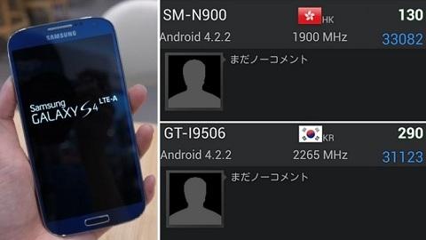 Samsung Galaxy Note 3 ve Snapdragon 800 çipsetli Galaxy S4'ün test sonuçları