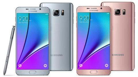 Galaxy Note 5'e iki yeni renk seçeneği eklendi