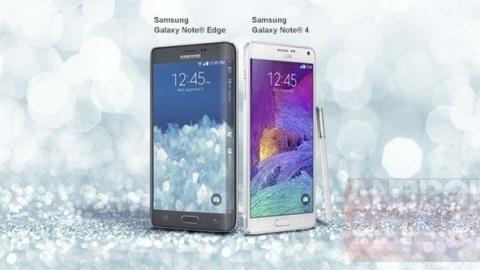 Galaxy Note Edge ve Galaxy Note 4'ten ilk resmi görüntü