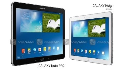 12.2 inçlik Galaxy Note Pro tabletin ilk basın görseli