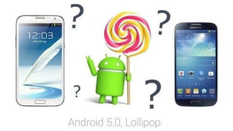 Galaxy S4 ve Galaxy Note 2 i�in Android 5.0 Lollipop do�ruland�
