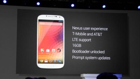 Samsung Galaxy S4 Google Nexus oluyor