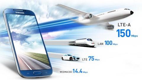 Samsung  Galaxy S4 LTE-A en hızlı akıllı telefon