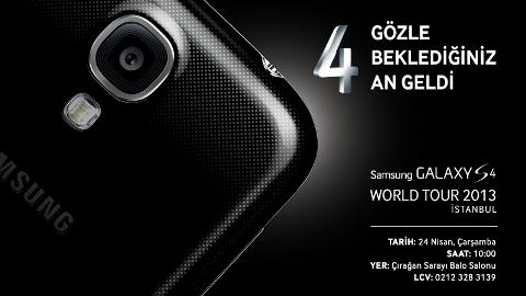 Samsung Galaxy S4 Türkiye tanıtım tarihi belli oldu