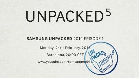 Samsung, 24 Şubat'ta Unpacked 2014 etkinliğini düzenleyecek