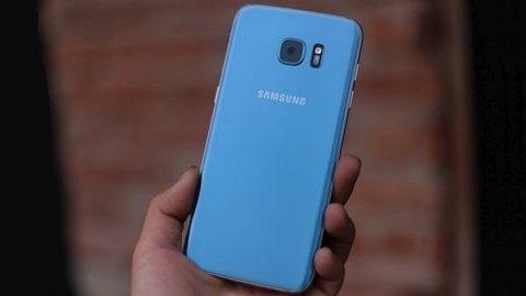 Mavi renkli Galaxy S7 edge satışa çıktı