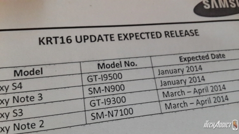 Samsung'un Android 4.4 KitKat güncelleme takvimi detaylanıyor