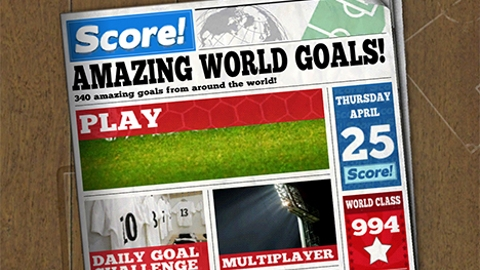 Score! World Goals iOS oyunu ile efsanevi golleri yeniden canlandırın