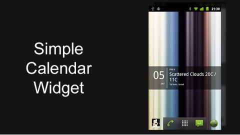 Simple Calendar Widget Android Takvim Uygulaması