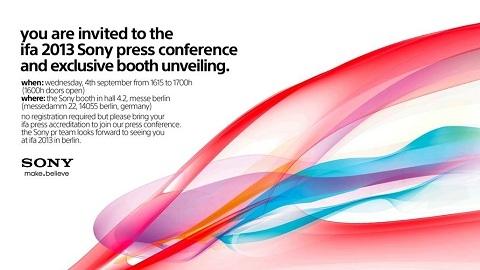 Sony, IFA 2013 kapsamındaki basın etkinliği için davetiye dağıtımına başladı