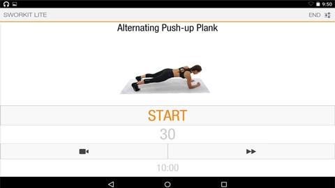 Sworkit Lite Kişisel Antrenör Android Uygulaması