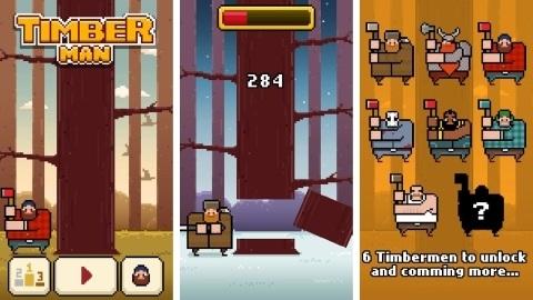Timberman: iOS ve Android için bağımlılık yapan yeni oyun