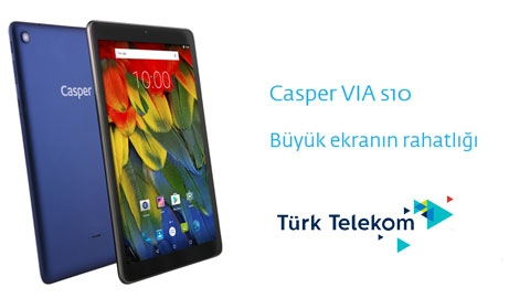 Türk Telekom Casper Via S10 Tablet Kampanyası