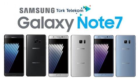 Türk Telekom Samsung Galaxy Note 7 Cihaz Kampanyası