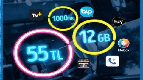 Turkcell GNÇ 12GB Paketi Kampanyası