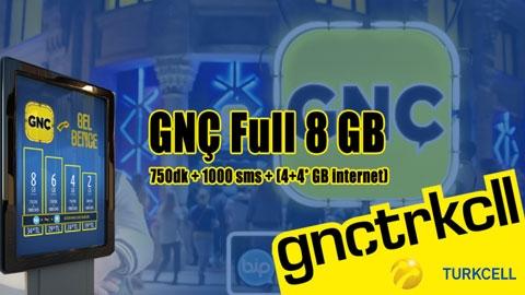 Turkcell GNÇ 8GB Paketi Kampanyası