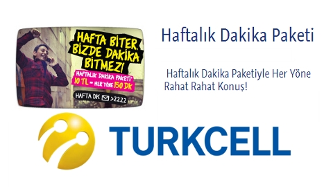 Turkcell Haftalik Dakika Paketi
