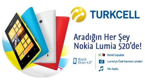 Turkcell Nokia Lumia 520 kampanyası