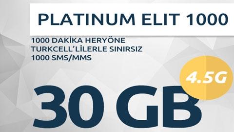 Turkcell Platinum Elit 1000 Paketi Kampanyası