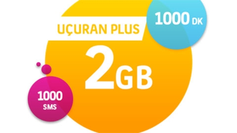 Turkcell Uçuran 2 GB Plus Paketi Hazır Kart Kampanyası
