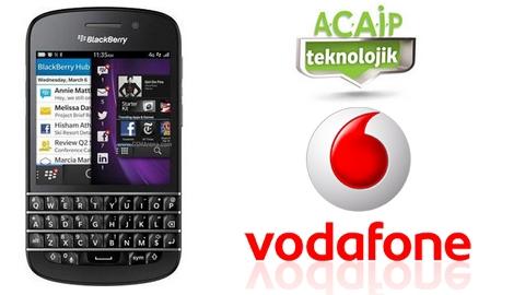 Vodafone BlackBerry Q10 kampanyası sözleşmeli fiyatları