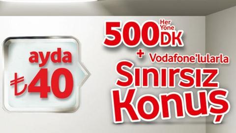Vodafone Cep Avantaj Sınırsız tarifesi ile tüm Vodafonluları sınırsız arayın