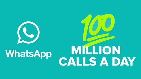 WhatsApp'ta her gün 100 milyon sesli görüşme yapılıyor