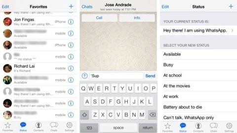 WhatsApp uygulaması iOS 7 için güncellendi