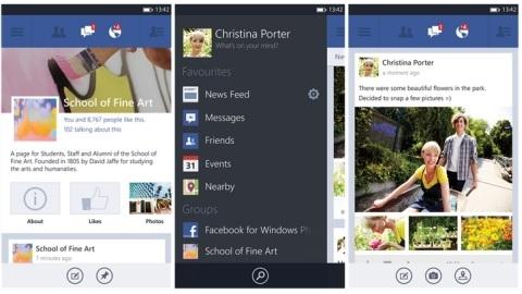Windows Phone 8 için resmi Facebook uygulaması yayınlandı