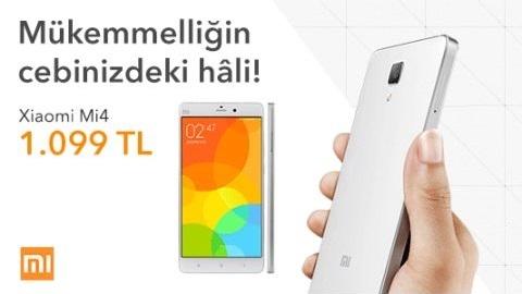 Xiaomi Mi 4 Türkiye'de resmen satışa çıktı