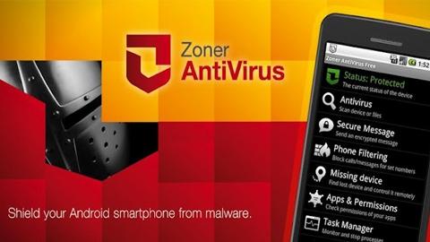 Zoner AntiVirüs Android Uygulaması
