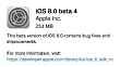 iOS 8 beta 4 versiyonu yay�mland�