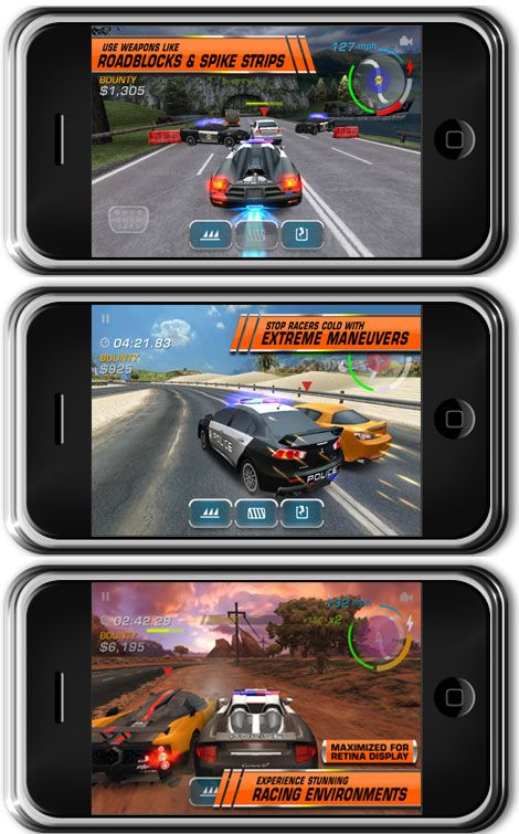 iPhone Need for Speed Hot Pursuit