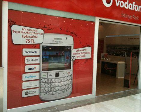 Vodafone dokunmatik mağaza