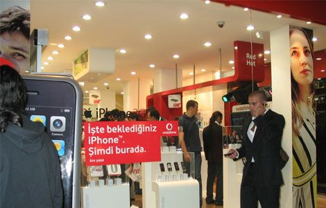 Vodafone iPhone 3G - Vodafone store