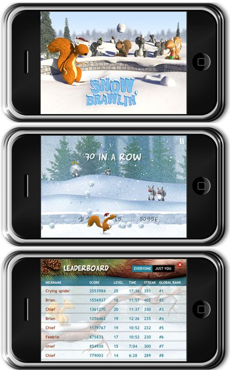iPhone Snow Brawlin oyunu