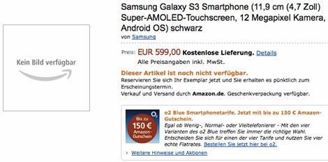 Amazon Galaxy S3�� sat��a sundu